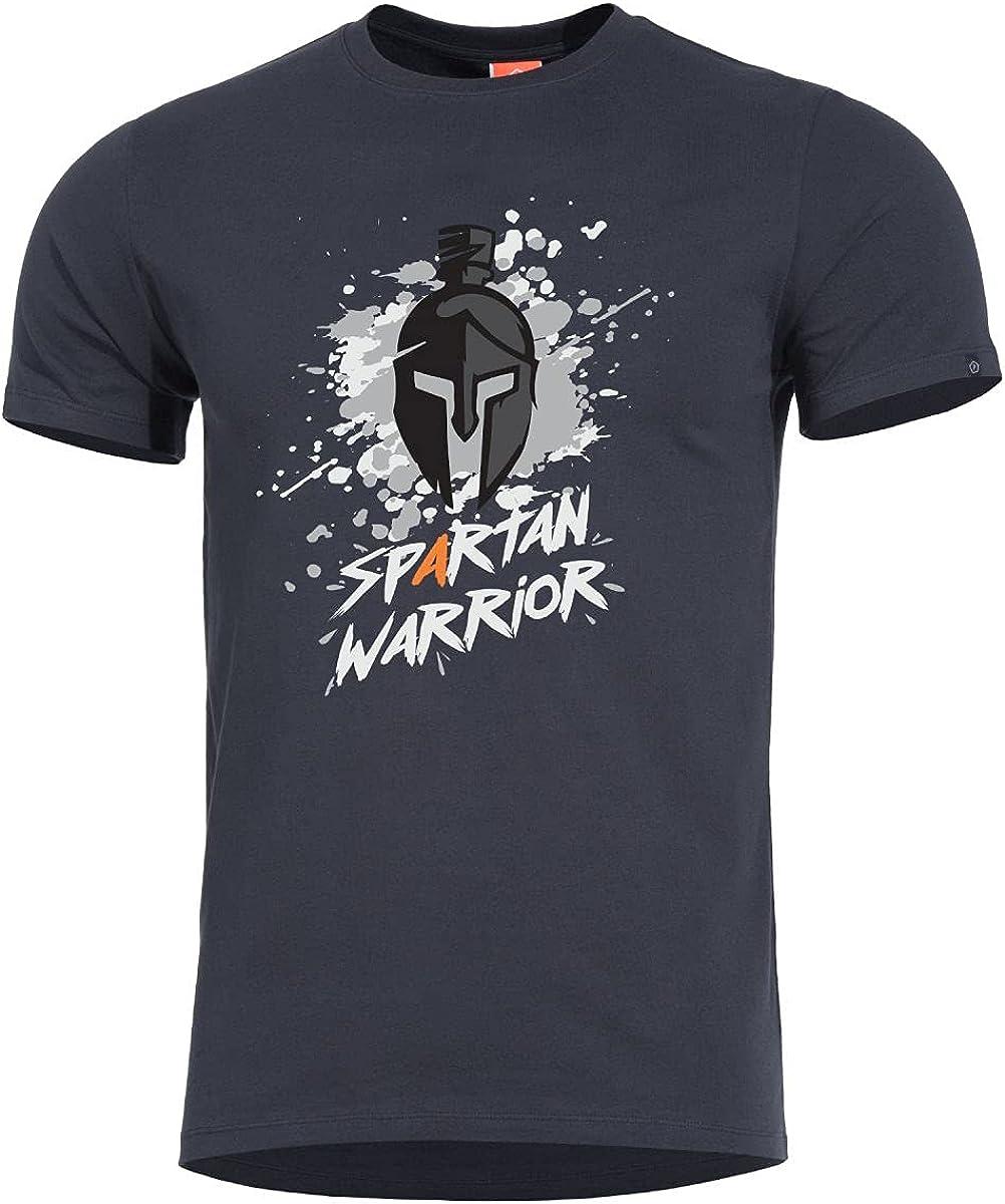 Pentagon Men's Ageron Bombing new work Spartan Warrior T-Shirt Los Angeles Mall Black