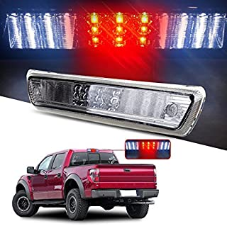 High Mount Brake Lights Replacement fit for 2009-2014 Ford F150 Full Red Lens LED 3RD Third Brake Light Cargo Light Rear Tail Lights (Clear)