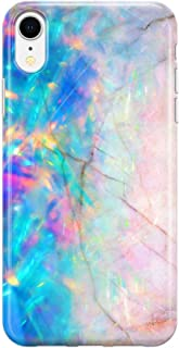 Pink Blue Opal Crystal Marble Case Compatible with iPhone XR 6.1