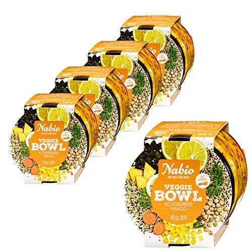 "Nabio Veggie Bowl To go \""Kichererbse Mango\"" Bio Fertiggericht, Feinkostsalat vegan, 5er Pack (5 x 235g)"
