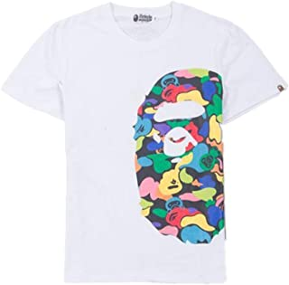 Mulynn Summer Fashion Bape Pattern Print Cotton Casual T Shirt for Men/Women