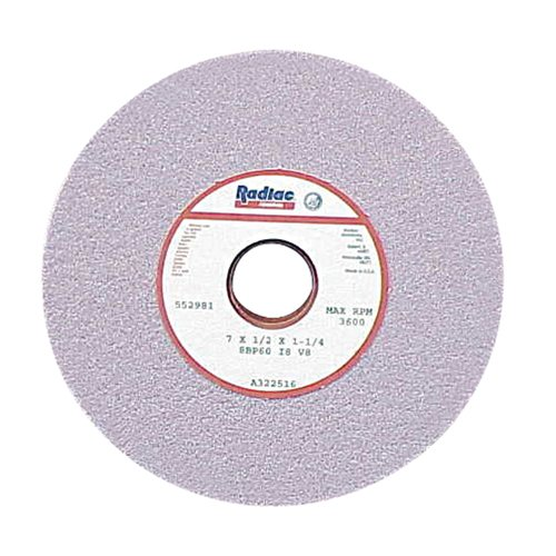 Radiac Abrasive RAD-A323169 Heavy-Stock Removal Straight Ceramic Surface Grinding Wheel 8 Inch x 1/2 Inch x 1 1/4 Inch, 3
