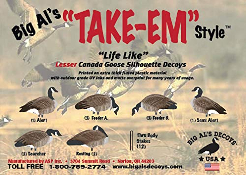 Lesser Canada Goose Silhouette Decoys-Thru Body Stake