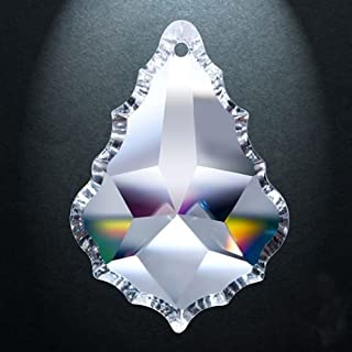 Asfour Crystal 911 Pendeloque Clear Crystal Prism, 5-Inch, 1 Hole , Box of 9 Pieces