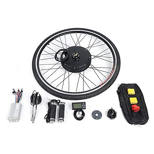 Aohuada Kit de conversión para bicicleta eléctrica con pantalla LCD de 28 pulgadas, 250 W, 36 V, motor delantero y motor eléctrico