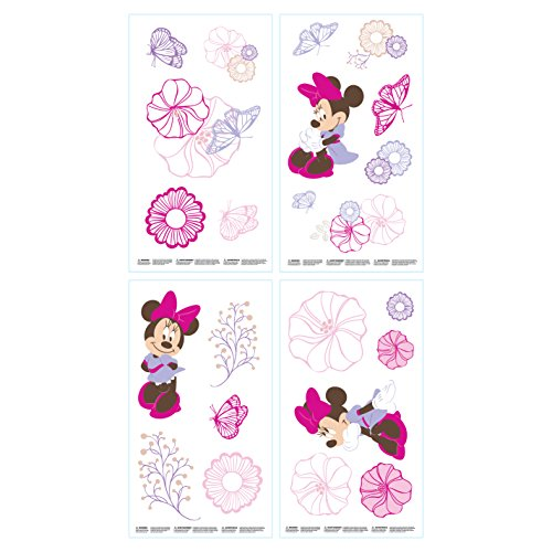 Disney My Friend Pooh Stickers muraux avec Winnie l'ourson, Porcinet et Tigre, minnie mouse, 10 inch x 18 inch