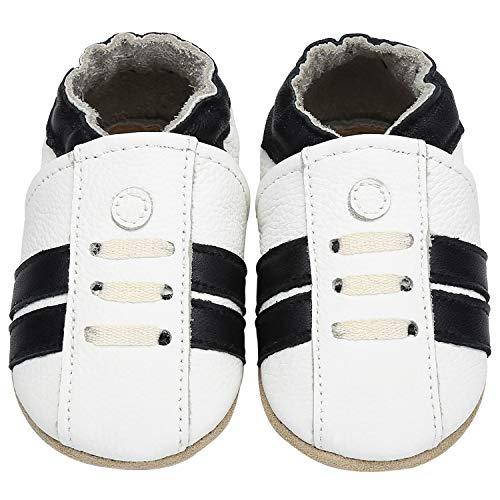 Yavero Zapatillas de Cuero Bebe Blanditos Zapatos para Bebe Ligeros Zapatillas de...
