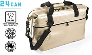 BISON COOLERS 24 Can Insulated Ice Chest Bag for Beer, Soda, Water or Lunch | Tear Proof with 24 Hour Ice Retention | Includes 2 Year Warranty | Made in The USA