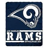 Northwest NFL Los Angeles Rams 50x60 Fleece Split Wide DesignBlanket, Team Colors, One Size