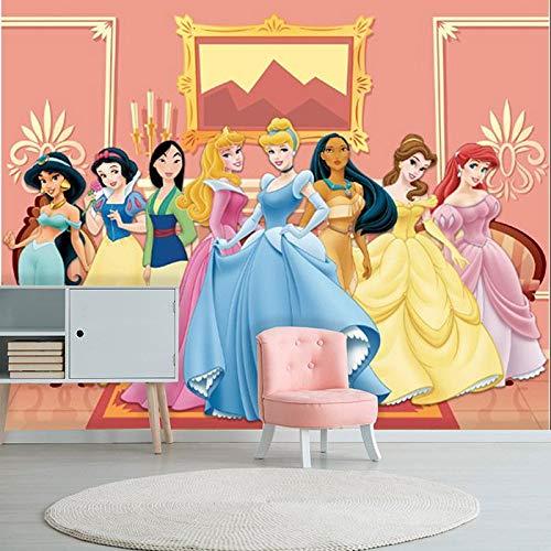 Papel de Parede Adesivo Princesas Castelo