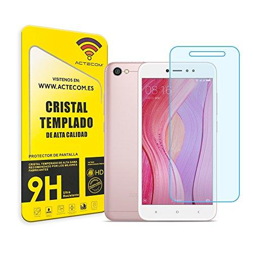 actecom® Cristal Templado Protector Pantalla 0.2MM para XIAOMI REDMI Note 5A