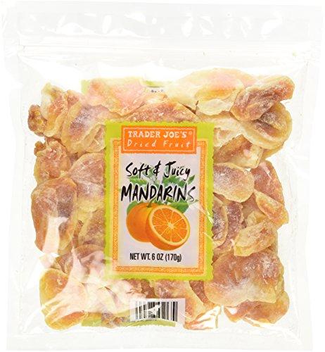 Trader Joe's Dried Fruit Soft & Juicy Mandarins 6 Oz, (Pack of 5)