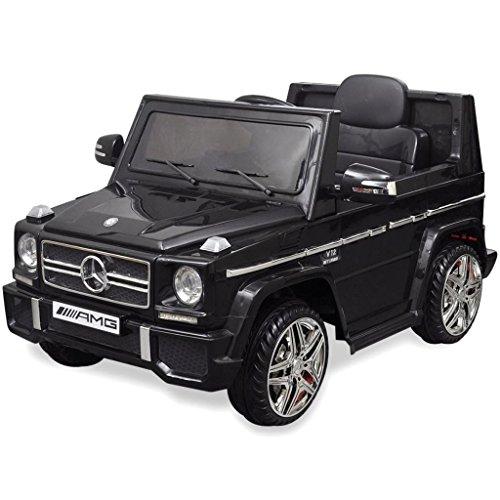 RC Auto kaufen Kinderauto Bild 2: vidaXL Kinderauto 2 Motoren 2x15W Schwarz Kinder Elektroauto Kinderfahrzeug*