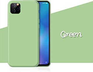 iPhone 11/XI/Pro/Pro Max Case, Nonvic Liquid Silicone Rubber Shockproof Cushion Cover with Soft Lined Microfiber Mat Full Case Cover for Apple iPhone 11/XI 5.8/6.1/6.5 Inch 2019 Release(6.5-Green)