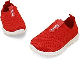 Toddler Kids Boys Girls Slip on Breathable Mesh Loafers Running Sneakers Sports Non Slip First Walker Shoes