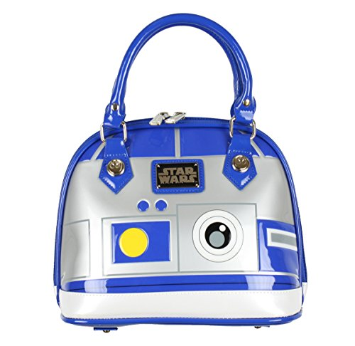 Loungefly R2D2 Mini Dome Shoulder Bag, Gray/Blue, One Size