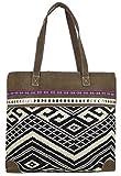 SUNSA Shopper - Bolso de tela para mujer marrón Größe circa (BxHxT): 46x35x11 cm