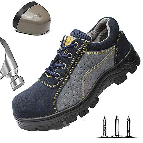 Lichtgewicht werkschoenen heren ademende veiligheidsschoenen met stalen neus comfortabele beschermschoenen sportief Punction Proof anti-smashing comfortabele wandelschoenen
