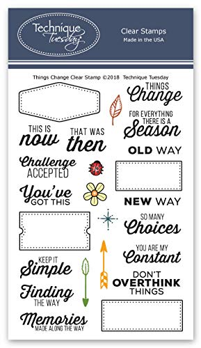 Things Change Clear Stamps | Photopolymer Stamps - Clear Rubber Stamps | Stamps for Card Making | Scrapbooking Stamps