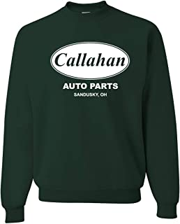 Wild Bobby Callahan Auto Parts Sandusky Ohio Retro 90s Funny Tommy Boy | Mens Pop Culture Crewneck Graphic Sweatshirt