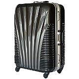 [BB-Monsters] ストッパー付 スーツケース 中型 MSサイズ フレームタイプ キャリーバッグ TSAロック搭載 旅行カバン 日乃本 鳳凰 (22、中型、MS, Brushガンメタル)