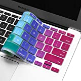 Silicone Keyboard Cover for 11.6' MacBook Air Model A1370 & A1465 11 inch Ultra Thin Protective Skin (1 PCS, Gradient- Rainbow)