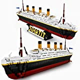 Riceblock Titanic Boat Model Building Block Kit,Cruise Ship Model Educational STEM Set Toys Gift for Kid 8-12 or Teens or Adults,2021 New 1333 Pieces