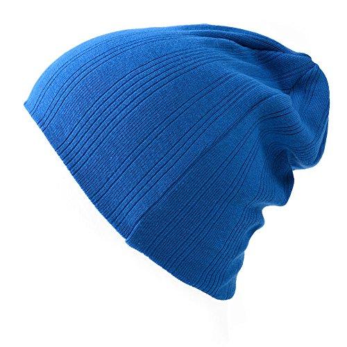 Casualbox Homme Frais Sportif Bonnet Chapeau Unisexe Chapeau Style Bleu
