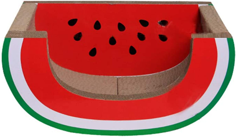 CWMC007 Watermelon shape,cat scratch board bed corrugated paper chaise longue cat bed cat sofa grinding claw cat toy cat claw board.