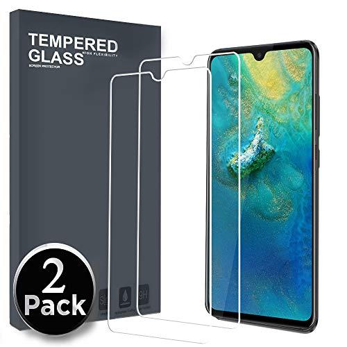 Ferilinso Panzerglas Schutzfolie für Huawei Mate 20 X, [2 Pack] Gehärtetes Glas Bildschirmschutzfolie für Huawei Mate 20 X (Transparent)