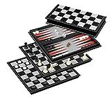 Philos 2506 Schach-Backgammon-Dame-Set, Feld 37 mm -