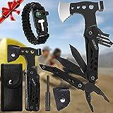 ShiRui Camping Multitool, Birthday Gifts for Men Dad Husband 15 in 1 Pocket Hammer Multito...