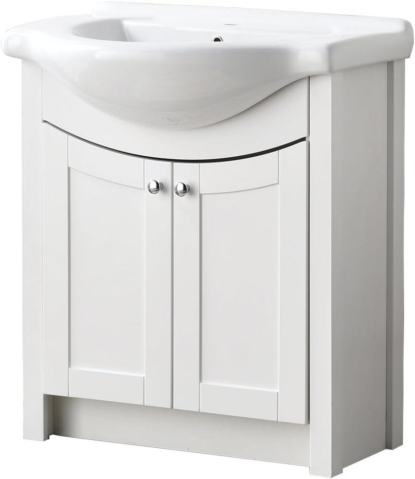 "LifeSky Modern 海外 bathroom vanity 24"" 037 Drawers Oak 2 売れ筋"