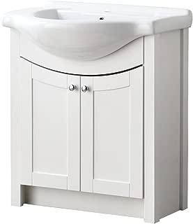 """LifeSky  Modern bathroom vanity 24"""" 2 Drawers, Oak 037"""