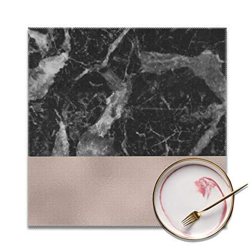 Architd Placemat Tafelmatten Plaats Mat Gemakkelijk te reinigen Vlekbestendige Placemats Voor Keuken Eetset Van 4 Monaco marmer op maat
