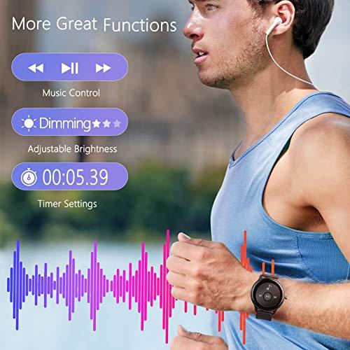 Smartwatch, CUBOT W03 1.3 Zoll Touch-Farbdisplay Armbanduhr, Fitnessuhr mit Schrittzähler, Fitness Tracker IP68 Wasserdicht Sportuhr Smart Watch mit Pulsuhr und Schlafmonitor für Damen Herren(Schwarz)