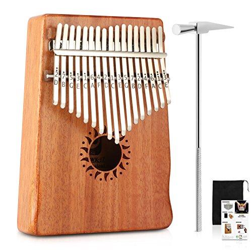 Donner Daumenklavier Kalimba Instrument 17 Schlüssel Solid Finger Klavier Mahagoni DKL-17