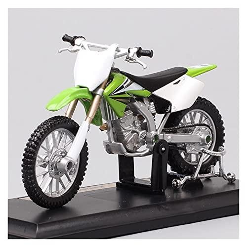 El Maquetas Coche Motocross Fantastico 1:18 para Kawasaki KX 250F Simulación De Aleación Cross-Country Modelo De Motocicleta Adornos Colección Regalo Coche De Juguete Regalos Juegos Mas Vendidos