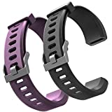 ID115plus hr Very Fit Pro Bands Replacement Strap for Veryfitpro ID115plus HR Letscom Fitness Tracker Bands, Lintelek Fitness Tracker Bands, Letsfit Replacement Bands Purple and Black