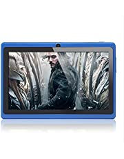 Haehne 7 inch tablet pc, Google Android 4.4, Quad Core A33, 512 MB RAM 8 GB ROM, dual camera's, WiFi, Bluetooth, capacitief touchscreen, blauw