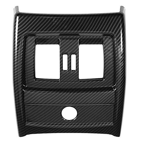 Vent Outlet Trim Cover Asiento de Coche de Fibra de Carbono Aire Acondicionado Posterior Vent Ajuste de la Cubierta para-BMW Serie 3 4 F30 F34 2013-2018 (Color : As Shown)