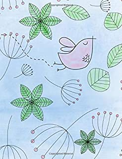 """Flying Summer Watercolor Bird Composition Book: College Ruled 7.44 x 9.69"""" Softcover Composition Book / Notebook Gift journaling lists doodling brainstorming meditation prayer writers"""