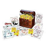 Kids' Party Favor Set, 250 Individual Mini Play Paks, 8 Wikki Stix and Activity Sheet per Pack, Great for Parties, Trips, Classroom by Wikki Stix