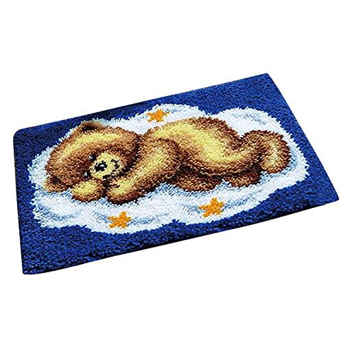 LucaSng Kits de fabricación de alfombras para adultos con gancho, kits de gancho, kits de ganchillo, para hacer ganchillo, cojines, tejer lana bordada, decoración para decoración del hogar niños.