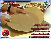 4 fogli cottura soft cook x cucina dietetica in forno padella