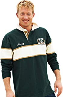 Rugby Shirt with Cream Stripe and Ireland Shamrock Crest