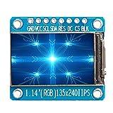 8ピン1.14 '' IPSフルカラーSPI HD TFTディスプレイスクリーンST7789アクセサリー、青、