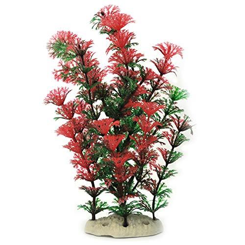 Wilai Künstliche Aquariumpflanze Wasserpflanze Alge Aquarium naturgetreu ca. 20 cm hoch (Modell 18176)