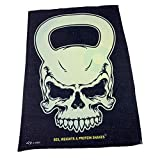 SWPS Gym Microfiber Sports Towel - Kettlebell Skull Sweat Rag mens Rags Towels slogan novelty...