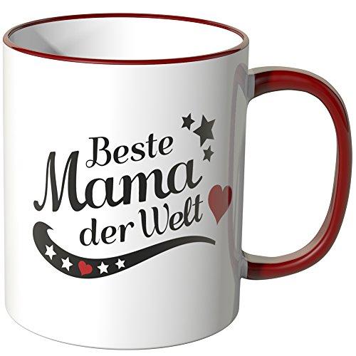 WANDKINGS Tasse, Spruch Beste Mama der Welt - ROT